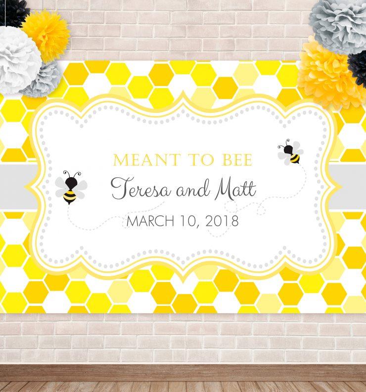 Printable Bumble Bee- Honeycomb Backdrop