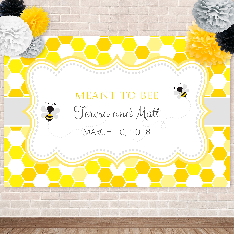 photo regarding Printable Backdrop identify Printable Bumble Bee- Honeycomb Backdrop
