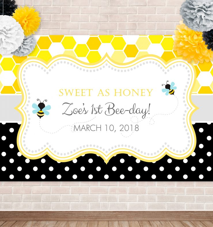 Printable Bumble Bee- Honeycomb & Dots Backdrop