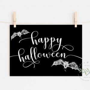 Happy Halloween Printable Art- Black