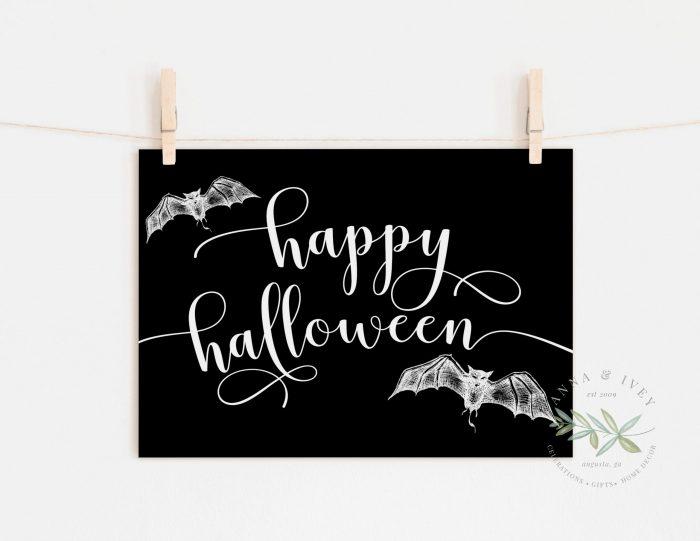 Happy Halloween Printable Art- Black