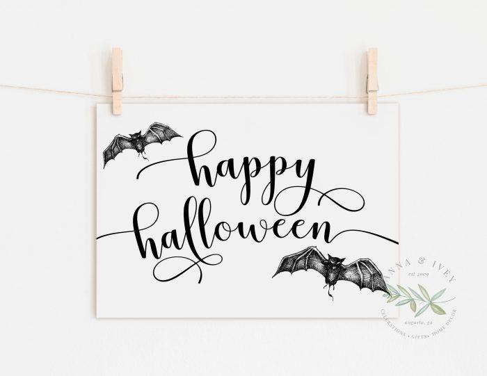Happy Halloween Printable Art