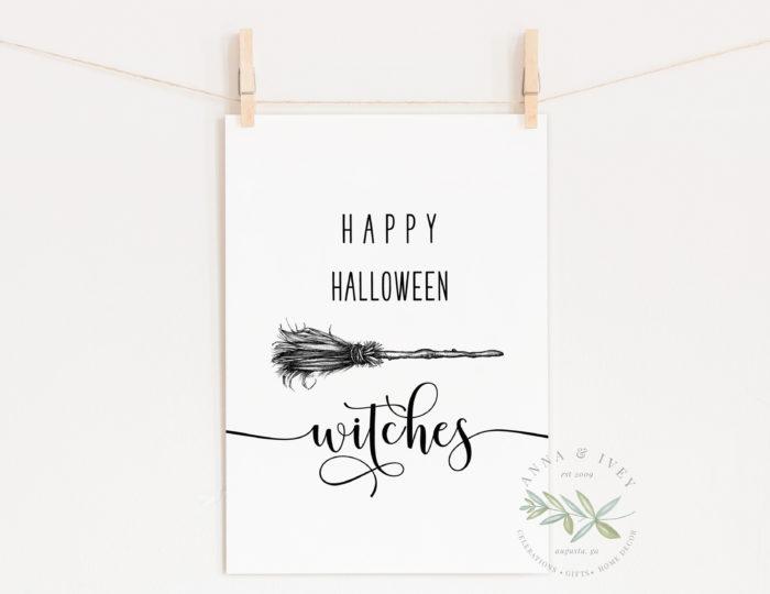 """""""Happy Halloween Witches"""" Printable Art"""