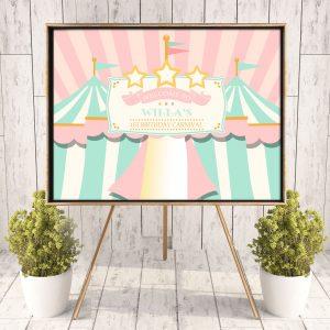 Printable Pink Circus/Carnival Poster