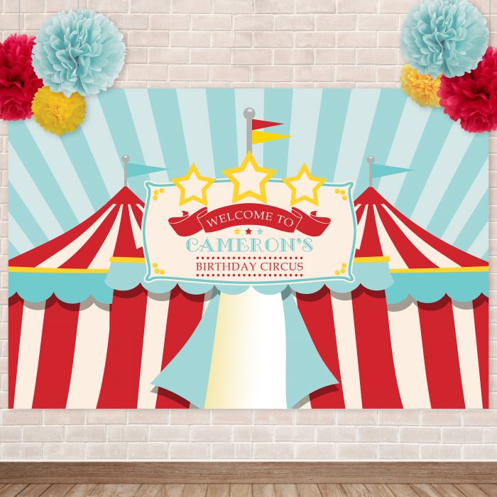 Printable Traditional Circus/Carnival Backdrop