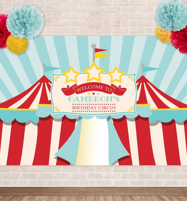 Printable Traditional Circus/Carnival Backdrop