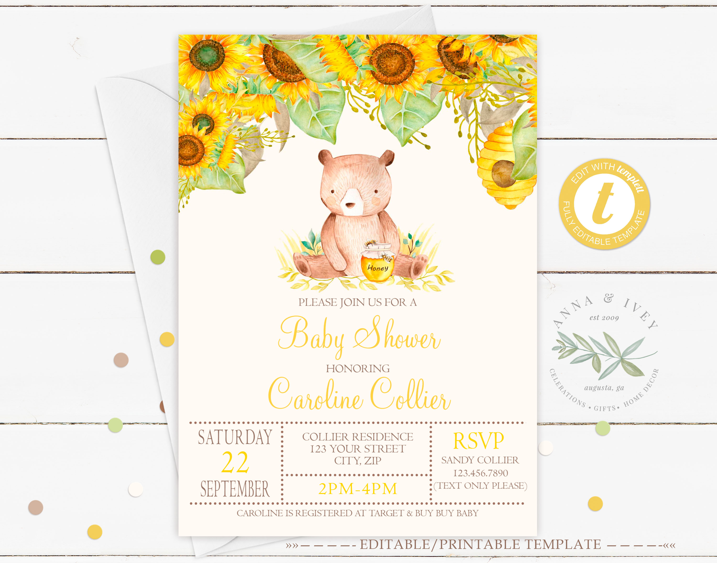 photograph about Printable Pictures of Sunflowers titled Printable Honey Endure with Sunflowers Invitation