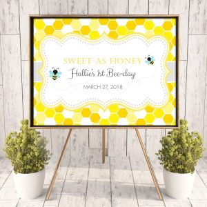 Printable Bumble Bee Honeycomb Poster