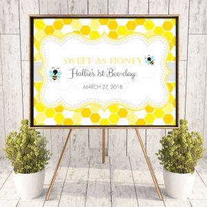 Printable Bumble Bee Honeycomb Poster