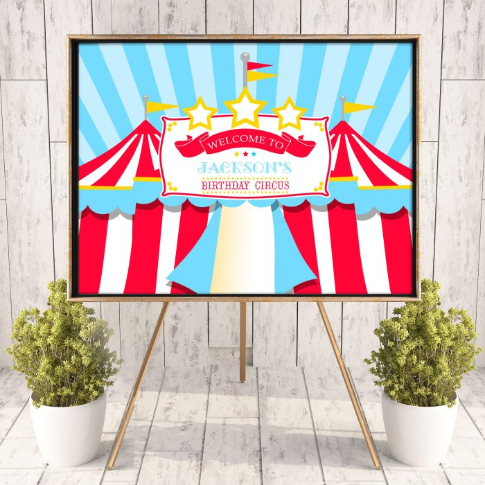 Printable Blue & Red Circus/Carnival Poster