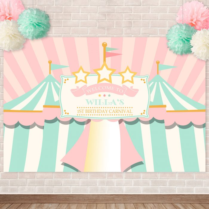 Printable Pink Circus/Carnival Backdrop
