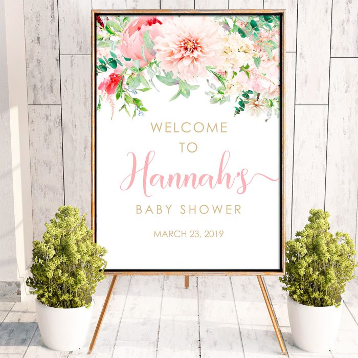Printable Pink Floral Poster