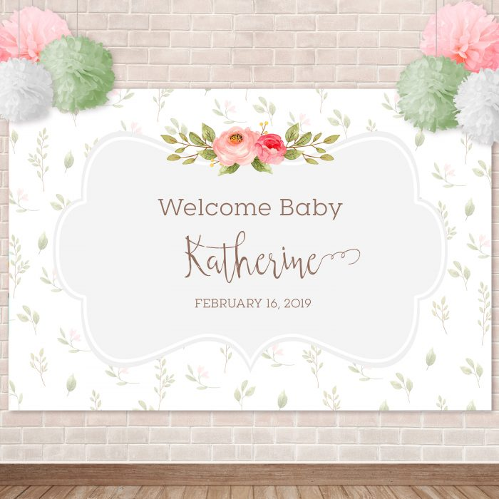 Printable Sweet Floral Backdrop