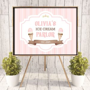 Printable Ice Cream Poster- Stripes