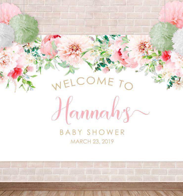 Printable Pink Floral Backdrop