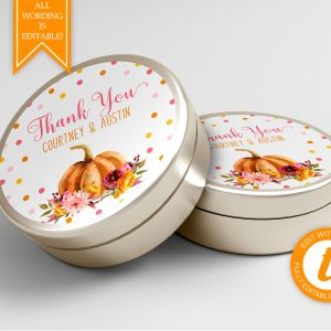 Printable Little Pumpkin Round Labels/Tags