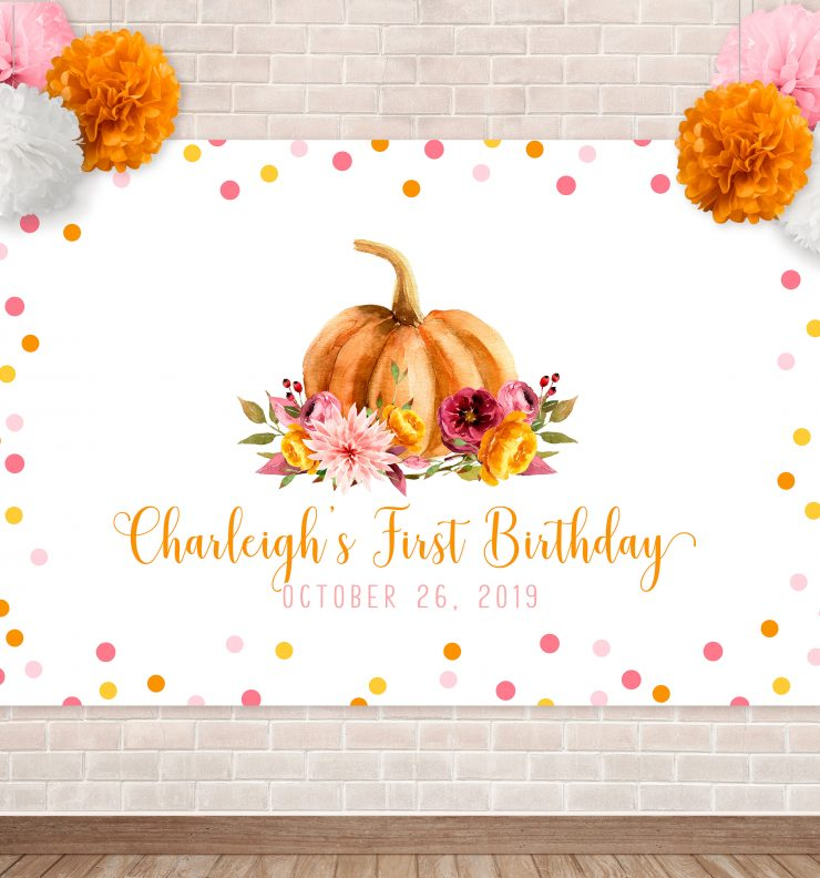 Printable Little Pumpkin Backdrop