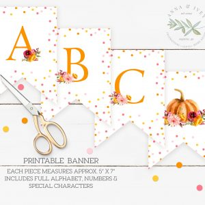 Printable Little Pumpkin Banner