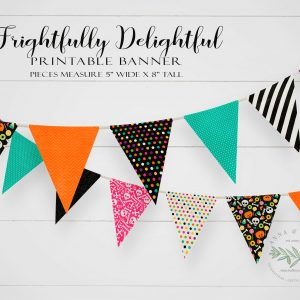 Printable Frightfully Delightful Pennant Banner