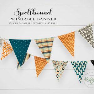 Printable Spellbound Pennant Banner