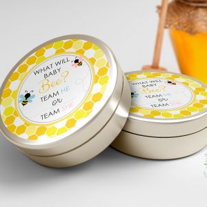 "Printable Bumble Bee Round Labels/Tags- Honeycomb- 3"" Inch"