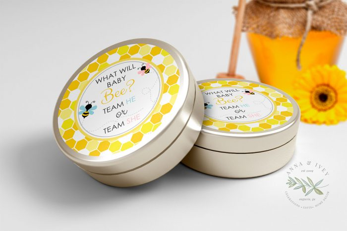 """Printable Bumble Bee Round Labels/Tags- Honeycomb- 3"""" Inch"""